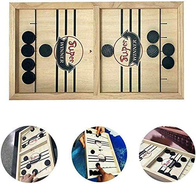 OADAA Fast Sling Puck Juego Ganador Juegos de Mesa Juguetes Fiesta Inicio Juegos interactivos Juguetes: Amazon.es: Hogar