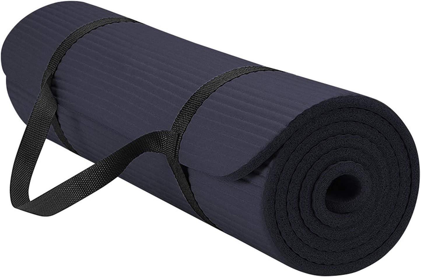 sol et exercices de fitness pilates JAEDEN Tapis de yoga ultra /épais r/éversible l/éger avec sangle de transport en mousse confortable Tapis dexercice antid/érapant pour yoga