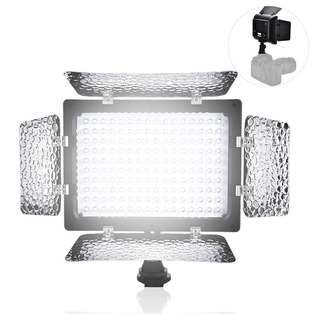 Topiky W160 Fotografía de Video Panel de lámpara de Luz 6000K LED ...