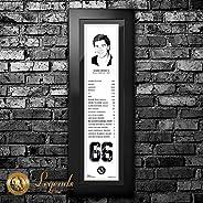 1997 Mario Lemieux - NHL Legends 6x22 Frame
