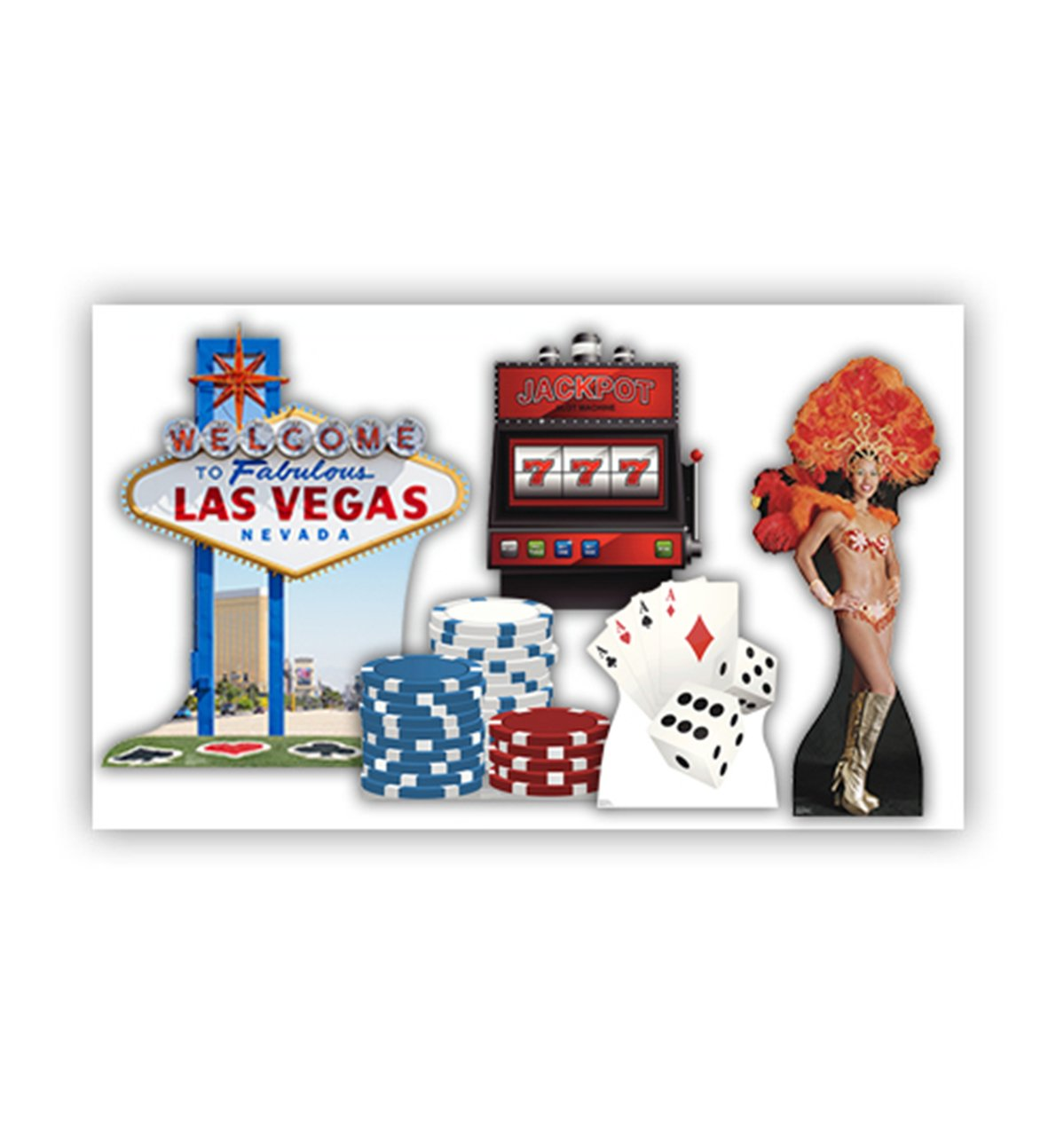 Vegas Party Themed Party Set - Advanced Graphics Life Size Cardboard Standups (Set of 5) by Advanced Graphics