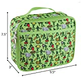 LONE CONE Kids' Insulated Fabric Lunchbox in Fun Patterns, Food Fighters (Army Men)