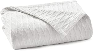Laura Ashley Home – Madeline Blanket - White - Queen