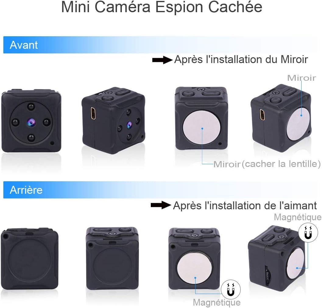 Mini Camera Espion,NIYPS Full HD 1080P Portable sans Fil Nanny Caméra Cach ...