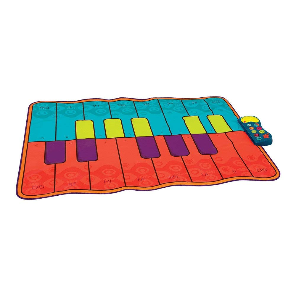 Play Keyboard Mat 54 Inches Musical Keyboard Playmat 16 Keys Battery Operated Foldable Floor Keyboard Piano Dancing Activity Mat With Adjustable Vol Step And Play Instrument Toys For Toddlers Kids Dif by GAOCAN-gq (Image #2)