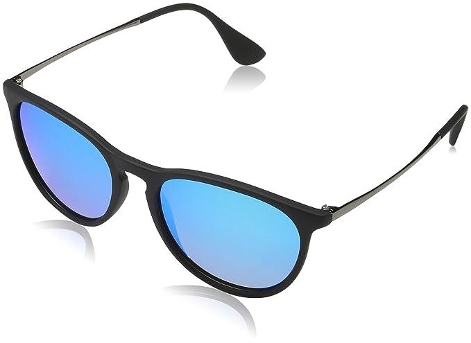 MSTRDS Unisex Sonnenbrille Arthur, Schwarz (Black/Blue 5146), One size (Herstellergröße: one size)