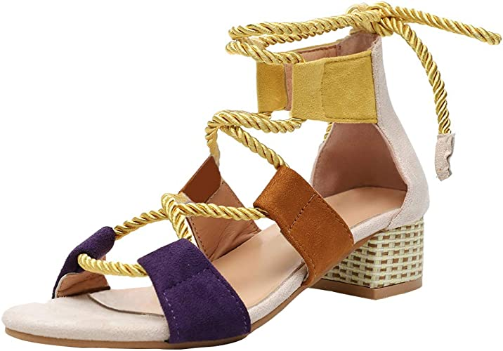 Roma Womens Pumps Buckle Loafer Open Toe Sandal Mid Heel Chic Shoes All UK Sz