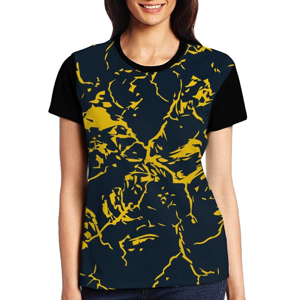 CKS DA WUQ Yellow Marble Women's Raglan T-Shirt Popular Sport Baseball Tees Tops Undershirts by CKS DA WUQ