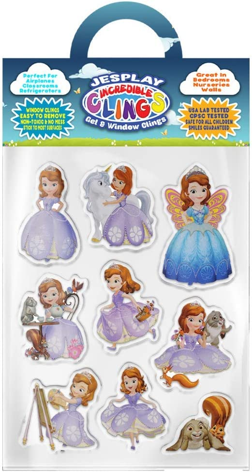Incredible Gel Decals for Glass Unicorns and More! Rooms Walls Toddlers Castles Home Fairies and Princesses Bundle Removable Gel and Window Clings for Kids Magic Wands