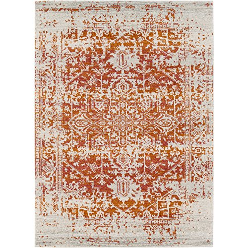 Janine Orange and Beige Updated Traditional Area Rug 9