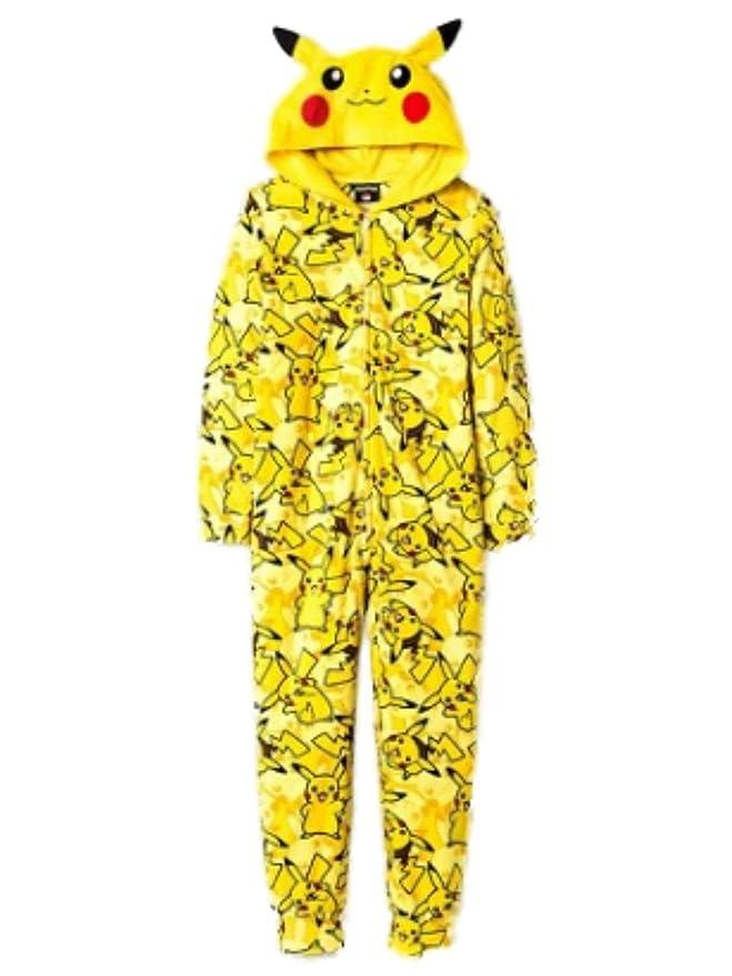 0d2aa7a30f95 Amazon.com  Pokemon Pikachu Boys Union Suit Pajamas 4-16 (M (8))  Clothing