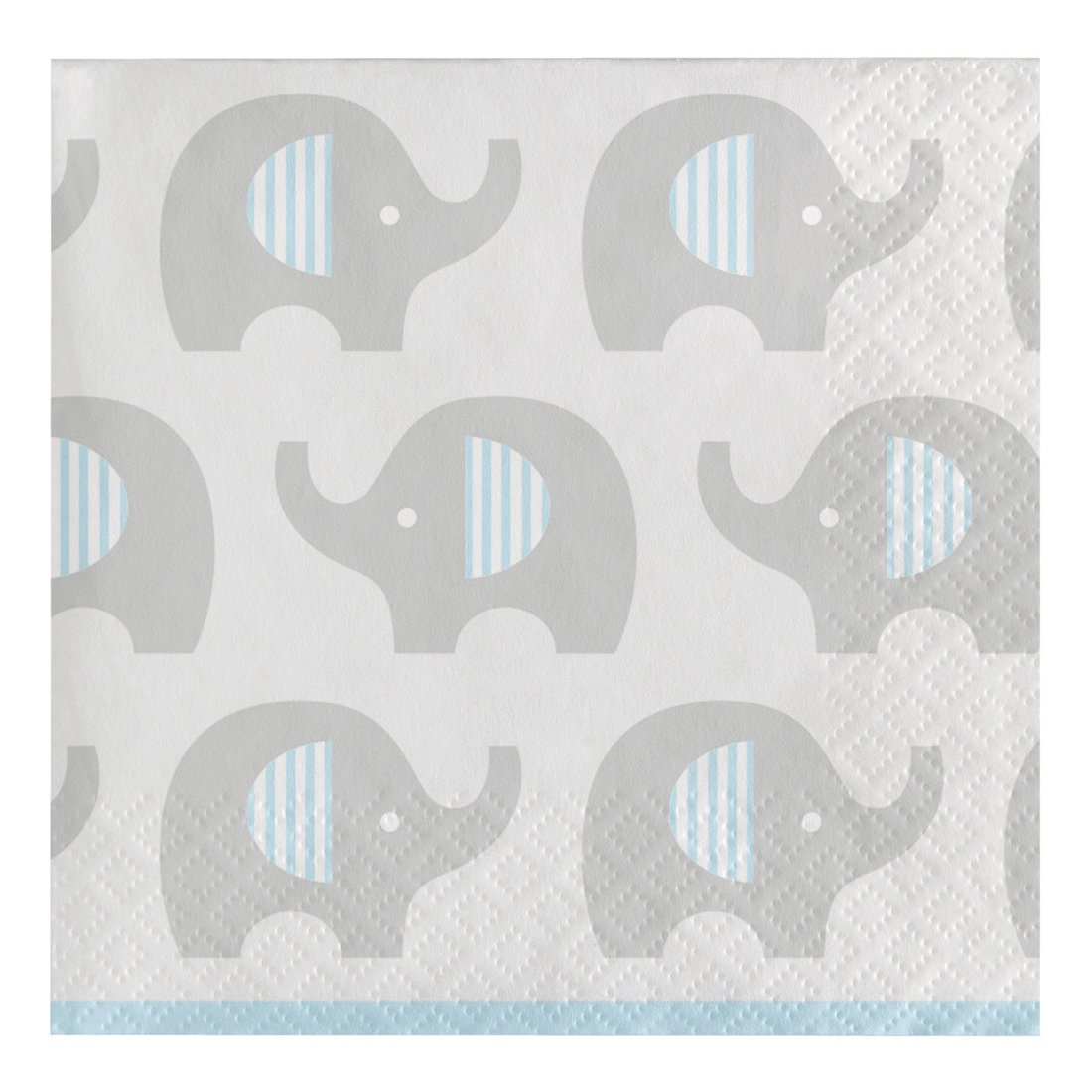 Creative Converting 316933 80 Count Paper Beverage Napkins, Little Peanut- Boy