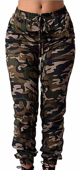 5e632f1e84 ZXFHZS Women's Stretch Twill Cargo Jogger Pants at Amazon Women's ...