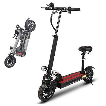 Scooter eléctrico, Bicicleta Plegable para Adultos con luz ...