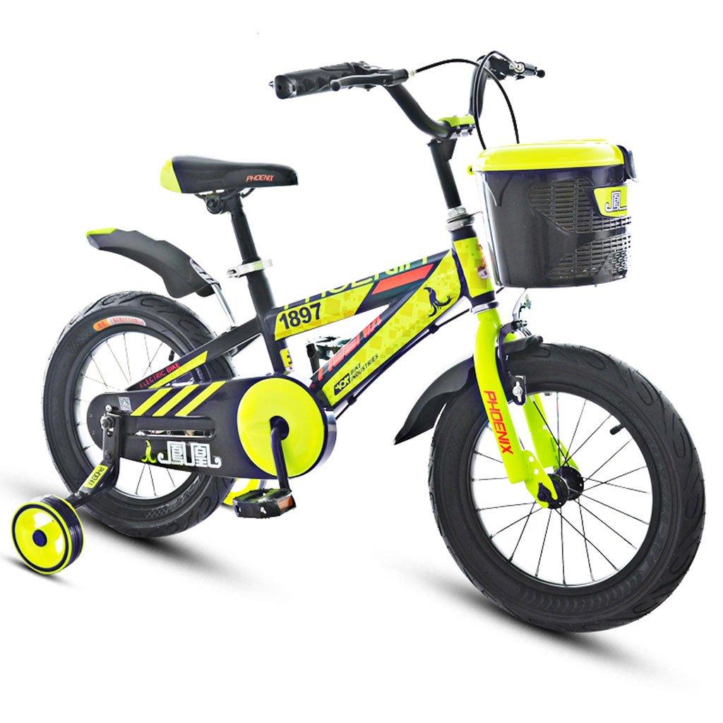 Xiaoping Bicicletas para Niños 3-5-9 Años Bicicleta para Niños 14/16/18 Pulgadas Bicicleta de Montaña para Niños Amarillo (Size : 18 Inches)