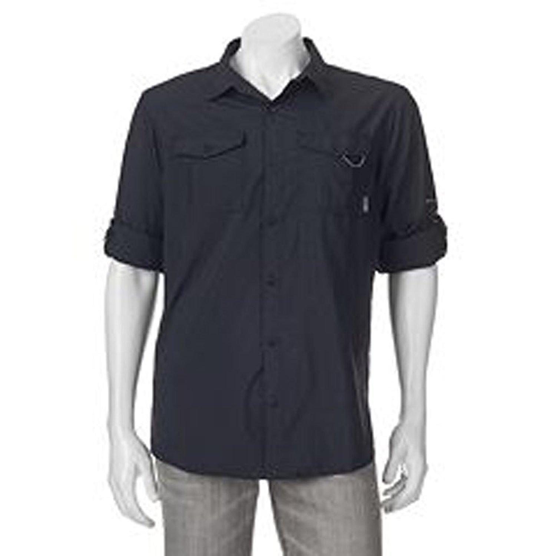 061564ad0d5 Columbia Men's Glen Meadows Omni-Shade Shirt - UPF 30 Long Sleeve - L -  Black at Amazon Men's Clothing store: