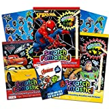 Superhero Scratch Art ~ Bundle Includes Spiderman, Toy Story, and Disney Cars Books with Stickers