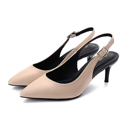 d665be9a KOKQSX-Zapatos de Tacon Alto Sandalias Medio y 5cm bromeando Bien de Tacon  Zapatos de