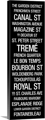City Typography: New Orleans Canvas Wall Art Print