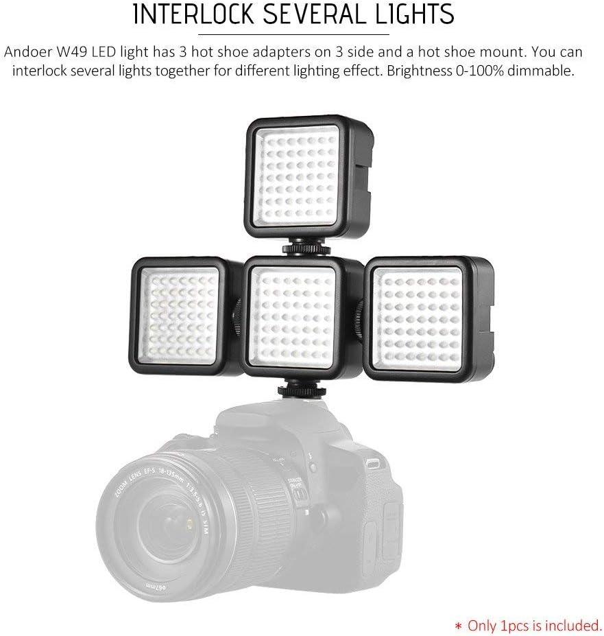 Andoer 49 Led Video Light Led Mini Interlock Kamera