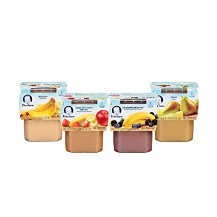 Gerber 2nd Foods Variety Pack, Fruit, 4 Ounce Tubs, 2 Count (Pack of 16)