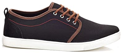 Solo Men's Howie Canvas Fashion Sneakers Slip-on Shoes with Elastic Side  Gores, Black