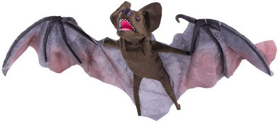 Toybakery Halloween Dekoration Deko Fliegende Fledermaus Mit Licht Gerausch Und Bewegung 72cm Flying Bat With Light Sound And Movement Ideal Fur Jede Halloween Party Feier Braun Amazon De Spielzeug