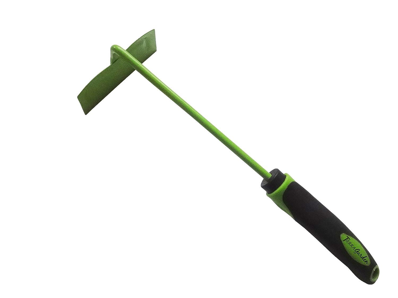 Tierra Garden 35-1822 Carbon Steel Short Handled Hoe with TPR Soft-Grip Handle