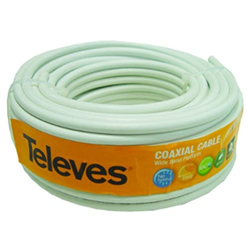 Televes 435501 Rollo de Cable coaxial (20 Metros), Blanco