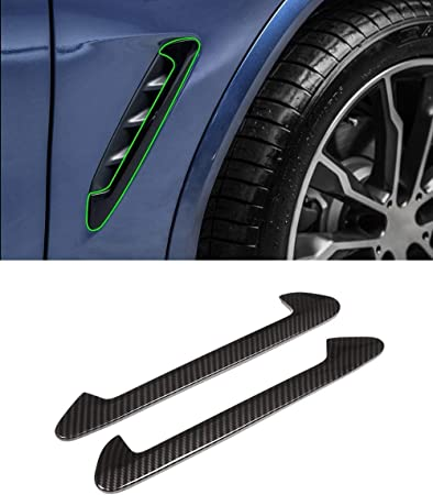 YIWANG Black ABS Side Wing Air Vent Hood Intake Fender Cover Trim 2pcs for BMW X3 G01 2018-2020 X4 G02 2019 2020 Auto Accessories