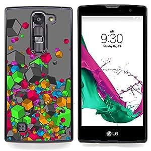 "Colores"" - Metal de aluminio y de plástico duro Caja del teléfono - Negro - LG Magna / G4C / H525N H522Y H520N H502F H500F (G4 MINI,NOT FOR LG G4)"