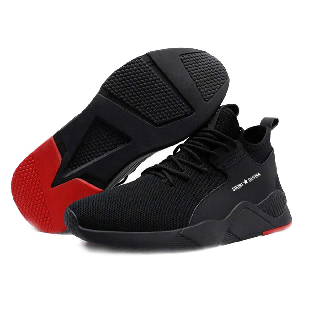 STARmoon 1 Pair Heavy Duty Sneaker Safety Work Shoes Breathable Anti-Slip Puncture Proof for Men