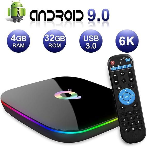 Android TV Box 9.0, 2019 El más Nuevo Android Box 4GB RAM 32GB ROM ...