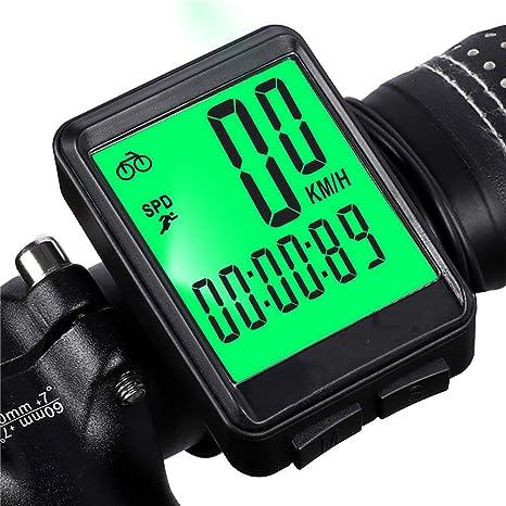 ZRSA Cuentakilómetros para Bicicleta Cableado Velocidad de ...