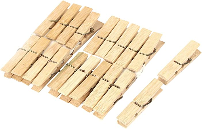 20pcs Home Wood Clothespins Wooden Laundry Clothes Pins Large Spring Modern