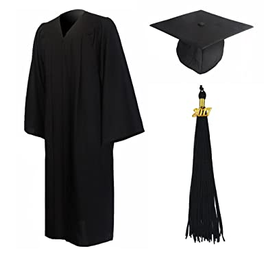 Amazon.com: GraduationMall Matte Graduation Gown Cap Tassel Set ...