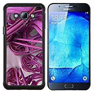- 3D lines abstract plastic art - - Modelo de la piel protectora de la cubierta del caso FOR Samsung Galaxy A8 A8000 RetroCandy