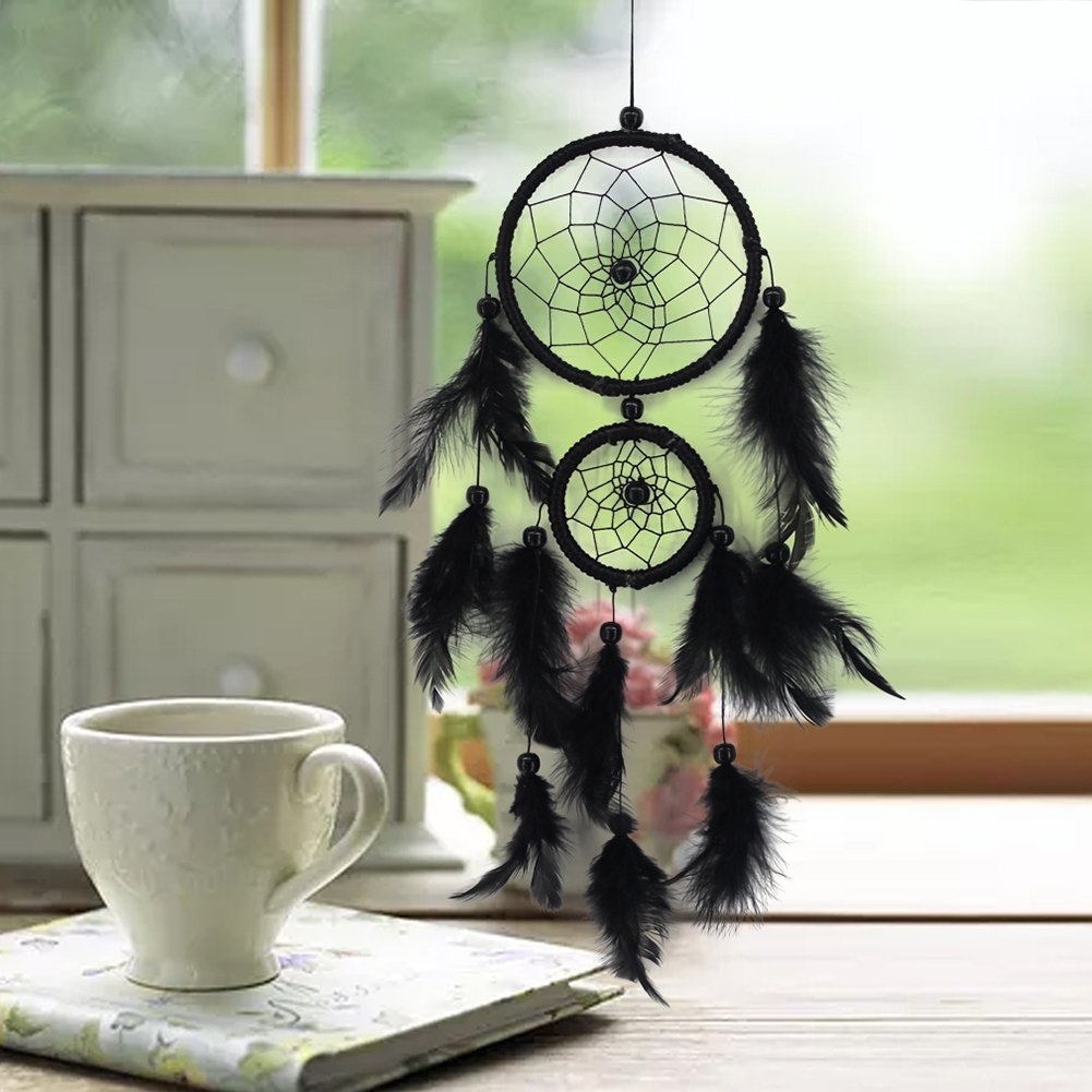 Handfly Wall Hanging Dream Catcher for Car Home Decoration Purple Dreamcather Gift