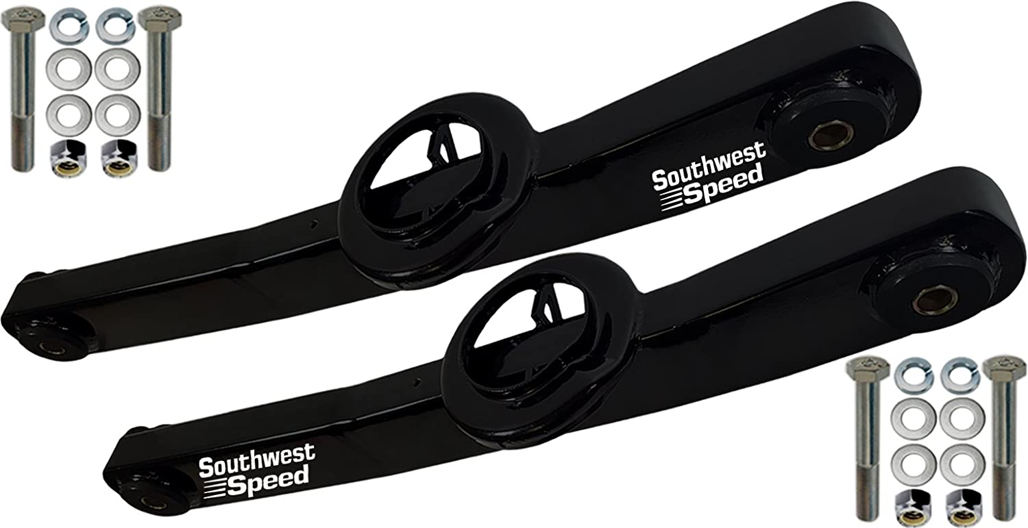 BLACK POWDER-COATED ARMS FOR 59-64 CHEVY 1959 1960 1961 1962 1963 1964 CHEVY IMPALA BEL AIR BISCAYNE BROOKWOOD EL CAMINO KINGSWOOD NOMAD PARKWOOD SOUTHWEST SPEED LOWER REAR TRAILING ARM SET
