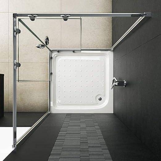 vidaXL Mampara de Ducha con Vidrio de Seguridad Baño Fregadero Fontanería Bricolaje Instalación Decoración Grifería Sanitario Bañera 90x70x180 cm: Amazon.es: Hogar