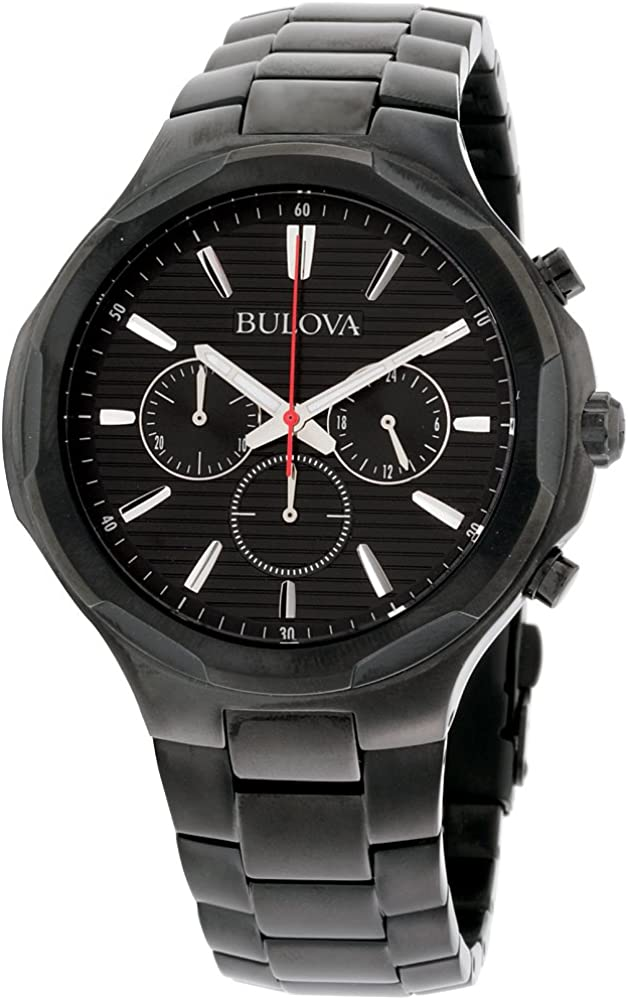Bulova Classic Sport Black Dial Stainless Steel Men s Watch 98A189