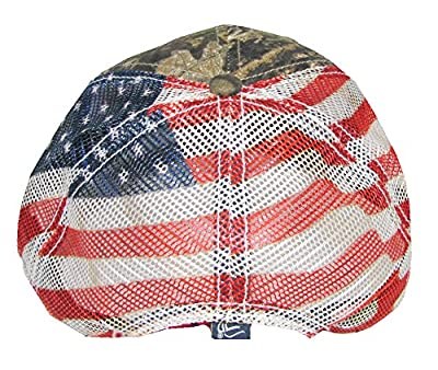 Patriotic 'Merica Adjustable Mossy Oak Mesh Hat