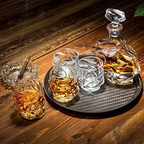 KANARS Emperor Whiskey Decanter And Glasses Set With Luxury Gift Box For Scotch + Bourbon + Liquor, 5-Piece, Original by KANARS (Image #5)