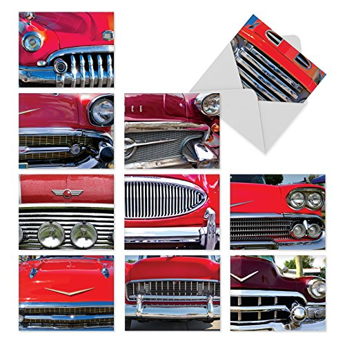 [M3120 Car And Grille: 10 Assorted Blank All-Occasion Note Cards Rev Up the Engines for the Classic Car Buffw/White Envelopes.] (Greeting Car)