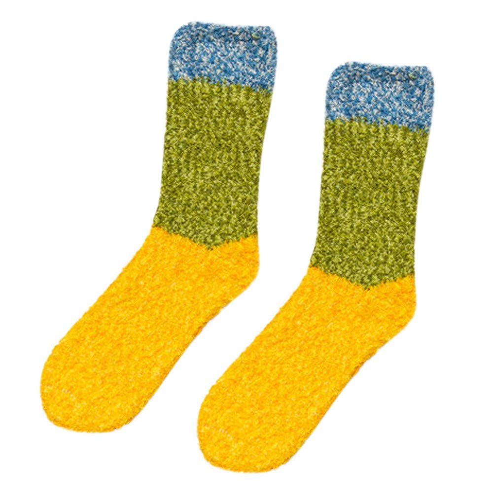 ⁑⁑Cute Fuzzy Floor Socks, Women Thicker Anti-slip Coral fleece Soft Fluffy Winter Warm Sleep Floor residentD (A)
