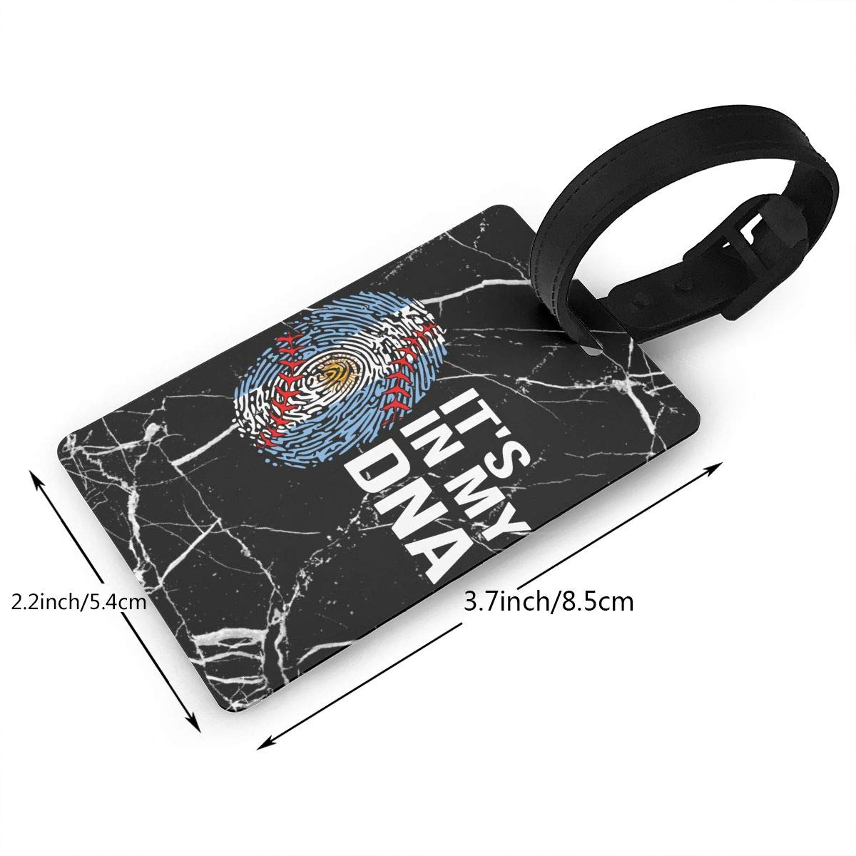 Softball Its In My Dna Argentina Flag Luggage Tag Business Card Holder For Mens Womens Gym Bags