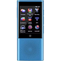 Langues Traducteur, Portable GPS WIFI Écran Tactile Smart Dispositif de Traduction en Temps Réel Support 45 Langues Mini Bluetooth Global Translateur pour Voyages, Apprentissage, Affaires.(bleu)