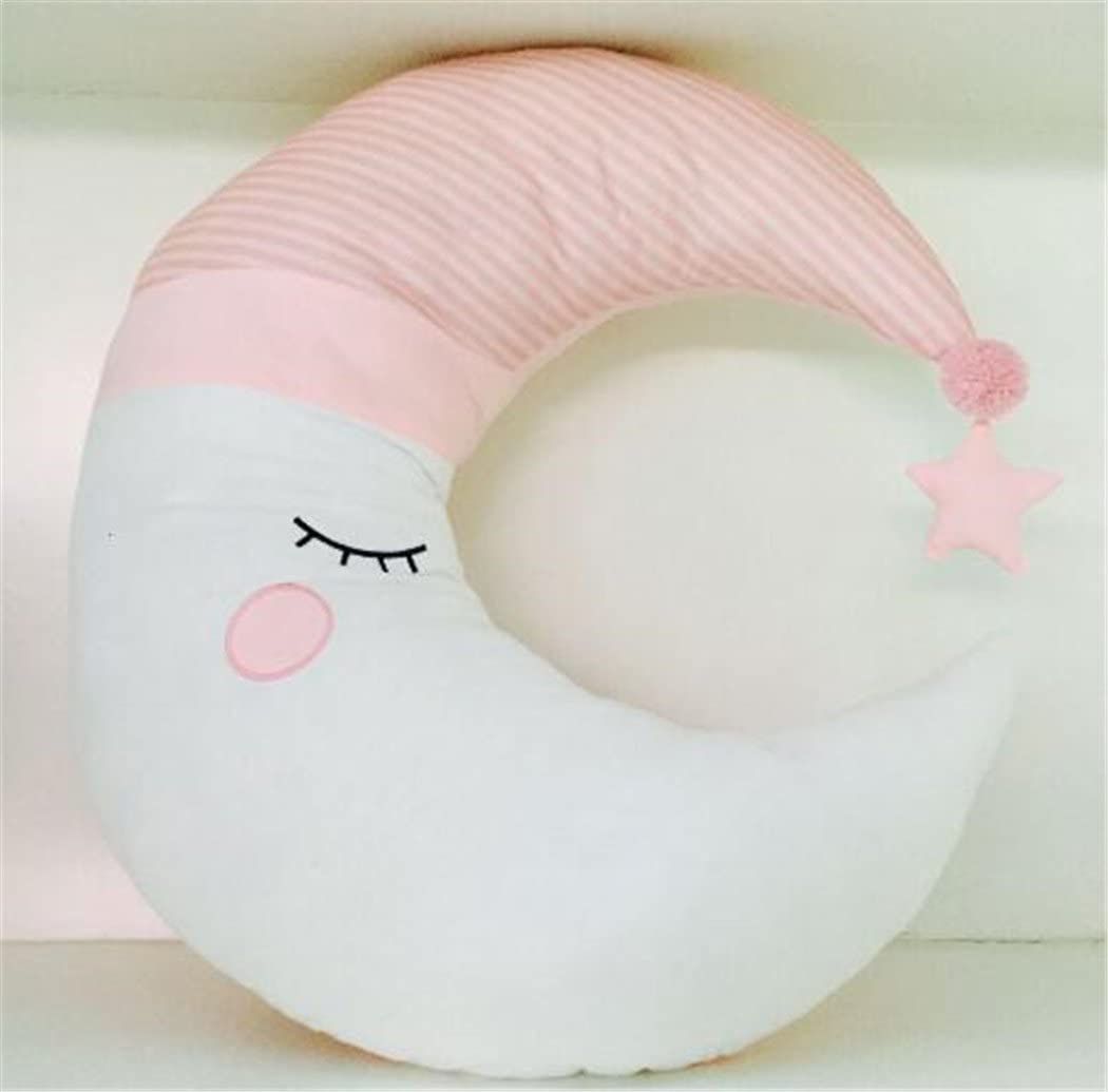 75CM//29.5, Pink Office Sofa Couch Car Seat Home Decorative Nursing Pillow A-cool Crescent Moon Shape Stuffed Toy Throw Pillow Cushion