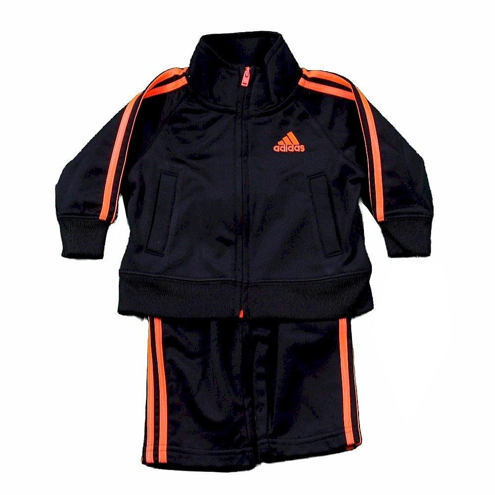 adidas Boy's Impact Track Pant & Jacket 2-Piece Set (7, Caviar Black)