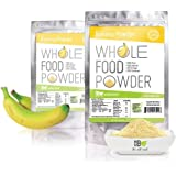 Banana Powder Made with 100% Real Bananas. 1lb Bulk-Soy Free, Vegan, No Artificial Sweeteners, No Additives or Fillers-A Natural, Sugar Alternative for Milk & Protein Drinks, Smoothies and Baking